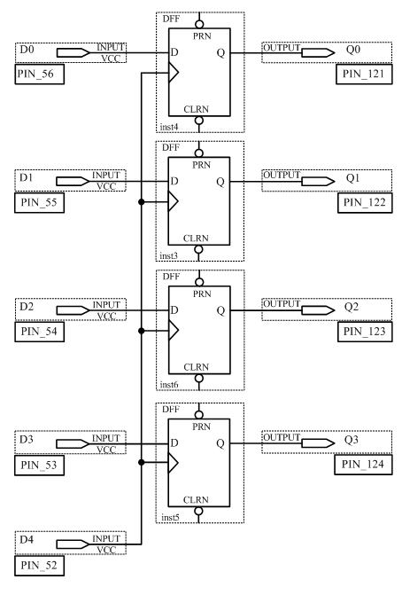 Схема 4-х битного