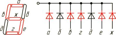 Семи сегментный индикатор 5,7KБ
