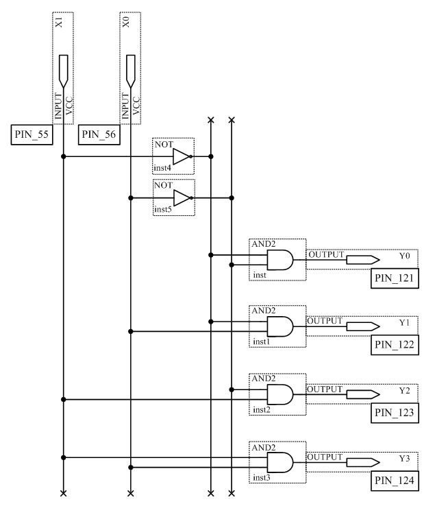 Схема дешифратора 11KБ