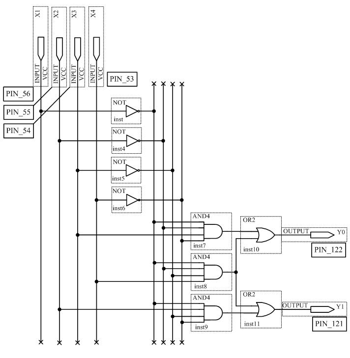 Схема шифратора 4x2 15KБ