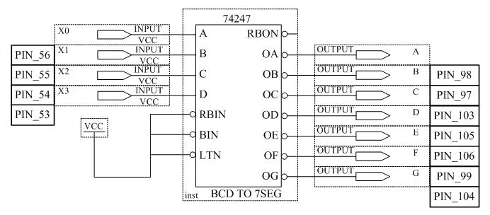 Схема преобразователя кода для