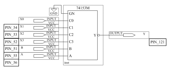 Схема мультиплексора 4x1 12KБ