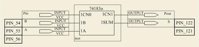 Схема сумматора 12KБ