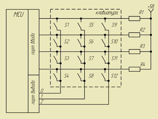 Подключение матричной