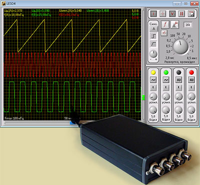 USB анализатор сигналов LESO4